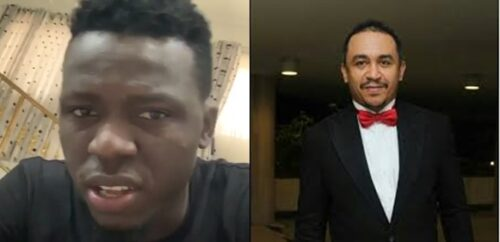 Since you have stopped paying your tithe, how many churches have fallen?- Akpororo asks DaddyFreeze  The row between comedian Akpororo and OAP Daddy Freeze continues as the comedian this evening released a video in which he asked Freeze