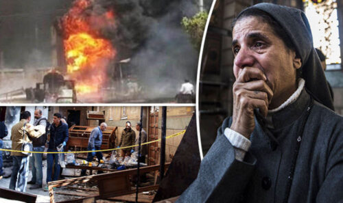 Image result for Church members escape death as Explosion rocks Catholic church