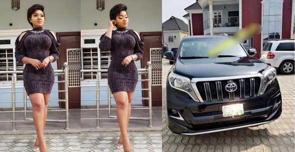Actress Mercy Aigbe buys herself a Toyota Prado