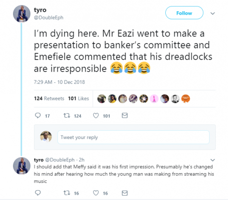 CBN Governor Godwin Emefiele allegedly tells Mr Eazi 'Your dreadlocks are irresponsible' lailasnews 1