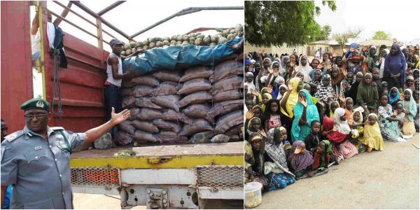 Customs distribute seized bags of rice worth N4bn to displaced persons lailasnews 2