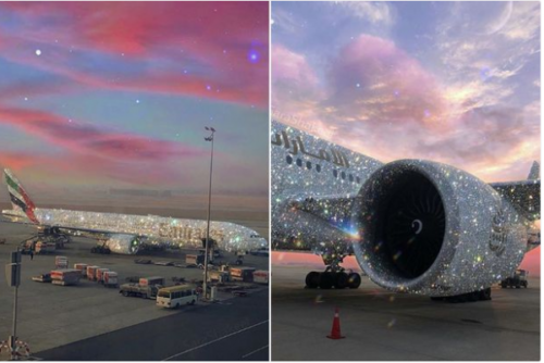 Emirates Boeing 777 aircraft designed with Diamonds in Dubai lailasnews