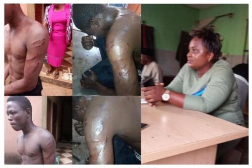 Lady who ordered thugs to beat staff over salary, finally arrested lailasnews