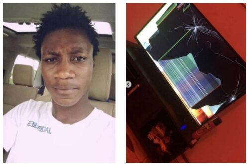 Nigerian man allegedly destroys friend's TV for switching channel lailasnews