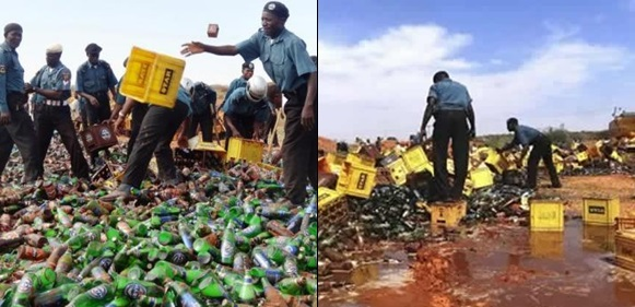 30 Trailer Loads Of Beer Seized And Destroyed By Kano Hisbah Board
