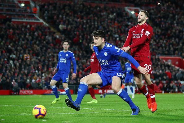 Image result for Liverpool 1 - 1 Leicester City (EPL) 2018/19