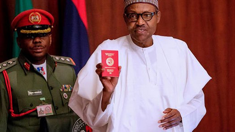 Image result for Buhari Receives New 10-Year Diplomatic Passport