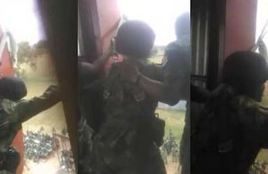 Drama as scared Nigerian Cadet refuses to jump during military training (Video)