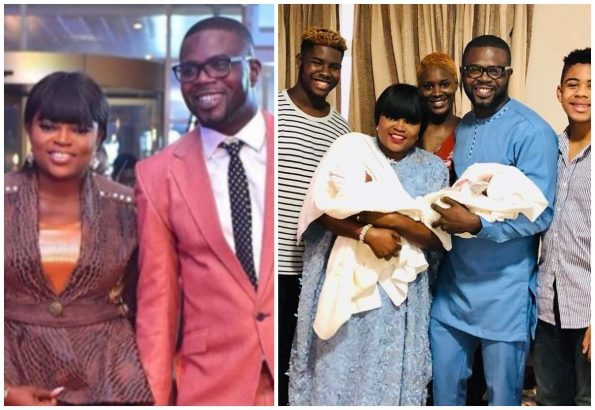 Funke Akindele releases first photo with her twin boys lailasnews