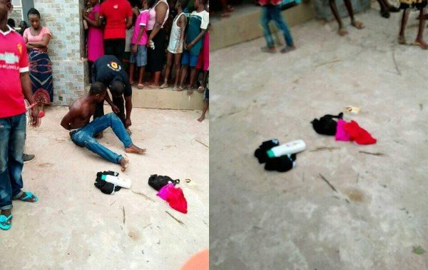 Man caught stealing panties and bras in Anambra State lailasnews