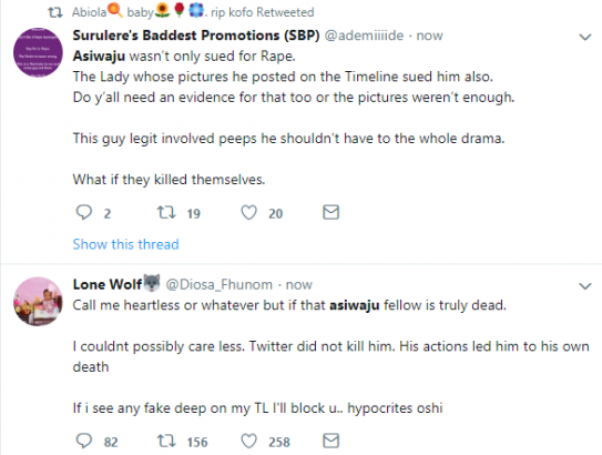 Michael Asiwaju Twitter users reacts after he committed suicide over rape allegation lailasnews 1