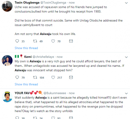 Michael Asiwaju Twitter users reacts after he committed suicide over rape allegation lailasnews 5