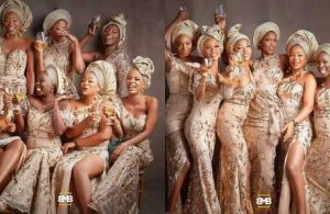 More photos of Simi and her asoebi girls at her traditional wedding