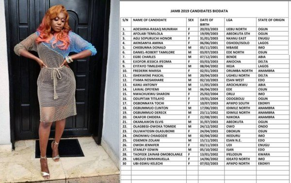 Niniola buys JAMB forms for 30 students lailasnews