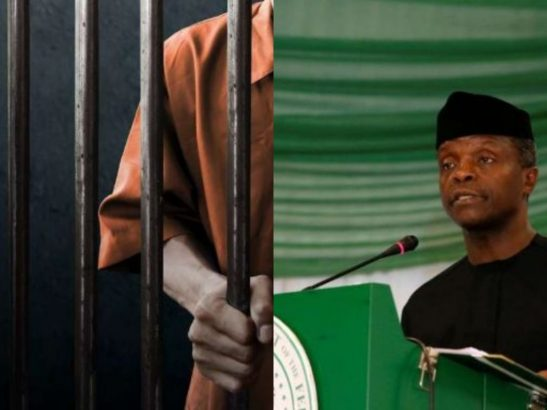 Osinbajo reveals the persons to be jailed by Buhari