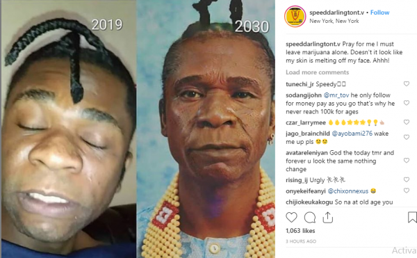 Please pray for me to leave marijuana alone - Speed Darlington cries out lailasnews 1