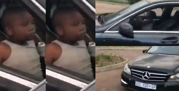 Image result for Underage kid cruises to school in exotic Mercedes Benz (Video)