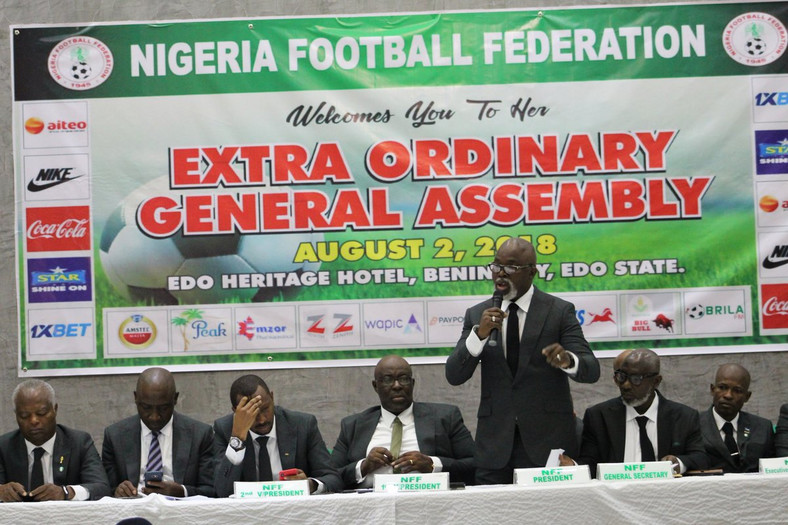 With Amaju Pinnick absent, Seyi Akinwunmi and a host of NFF members were present at the occasion.