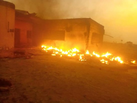2019 election INEC office set ablaze in Plateau state lailasnews 1