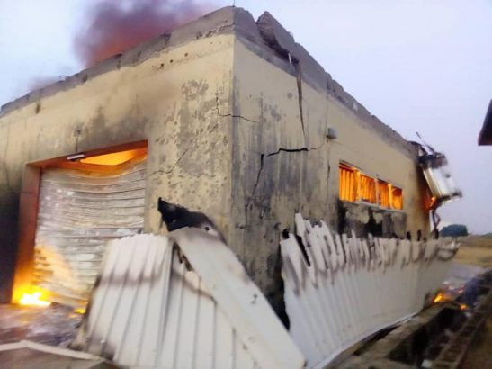 2019 election INEC office set ablaze in Plateau state lailasnews 2