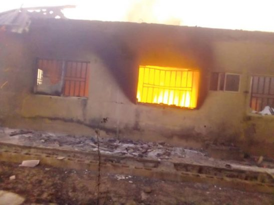 2019 election INEC office set ablaze in Plateau state lailasnews 3