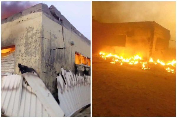 2019 election_ INEC office set ablaze in Plateau state lailasnews