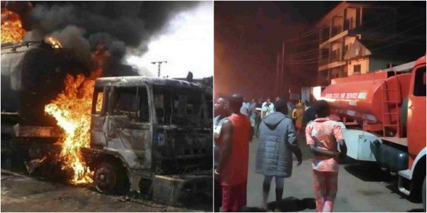 Another fuel tanker goes in flames in Anambra lailasnews 3