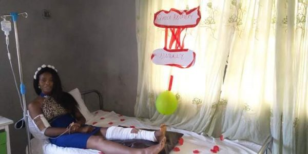 Lady breaks down in tears as lover proposes to her in the hospital laialsnews 3