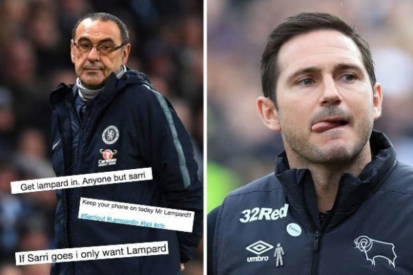Lampard tipped to take over as Chelsea manager as Sarri faces sack threat