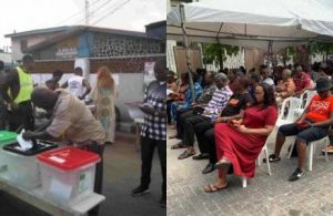 2019 elections: See how Nigerians reacted to the VGC polling unit (screenshots)