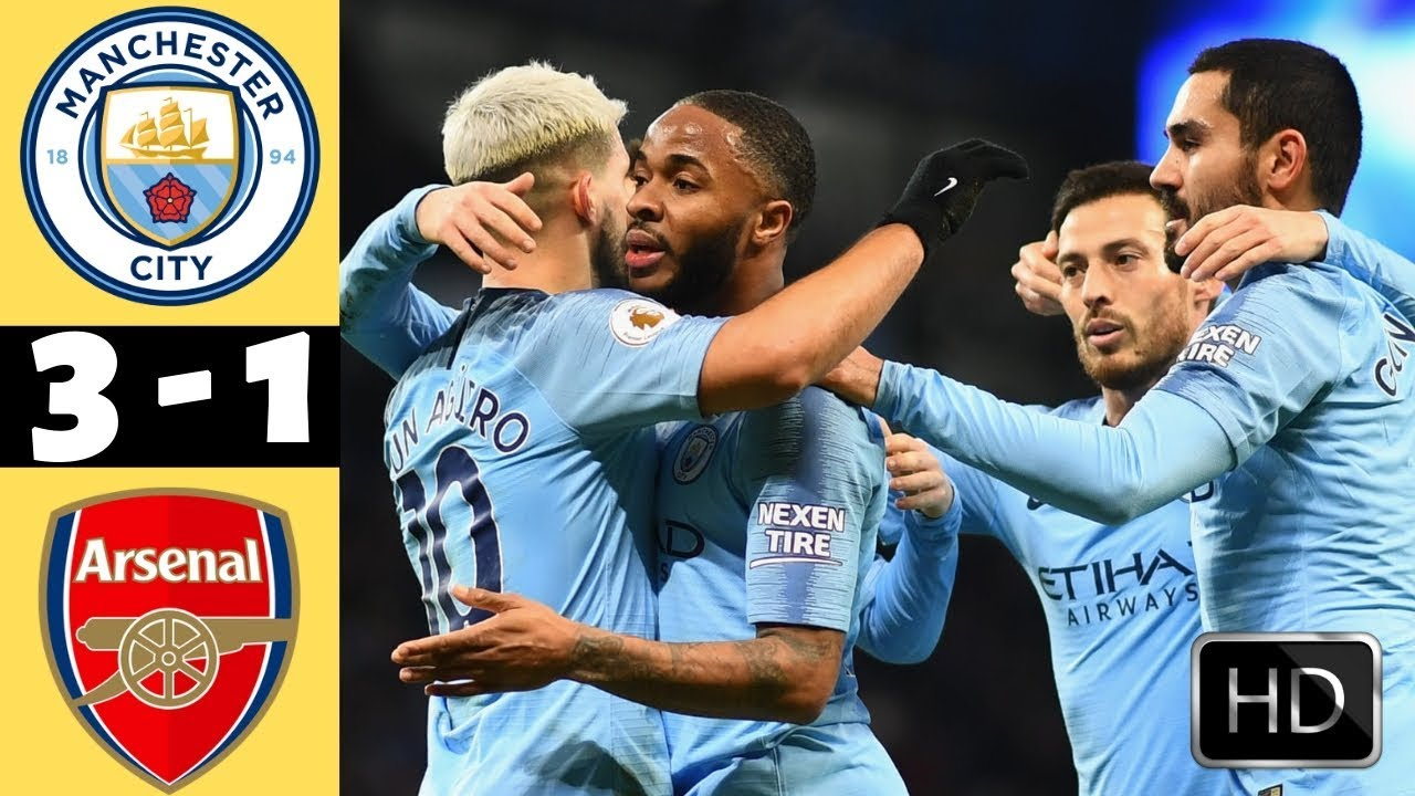 Image result for manchester city vs arsenal highlights