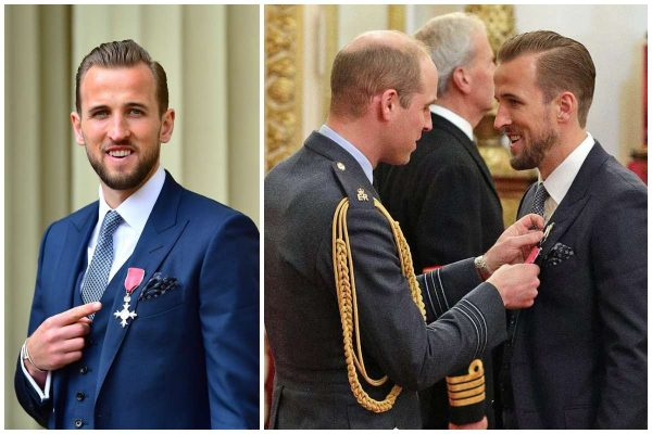 Harry Kane receives his MBE for services to football lailasnews