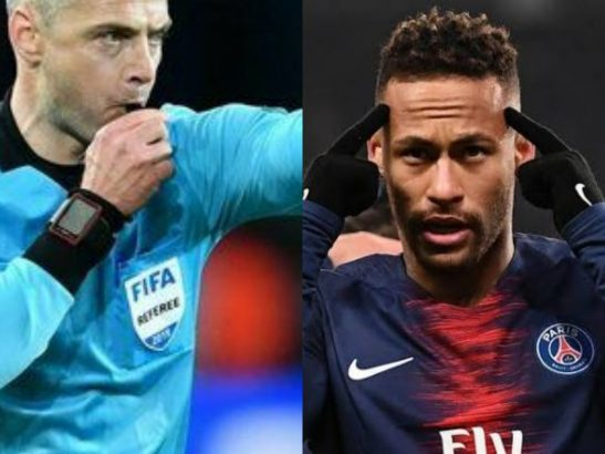 Neymar reacts angrily over Manchester United penalty against PSG