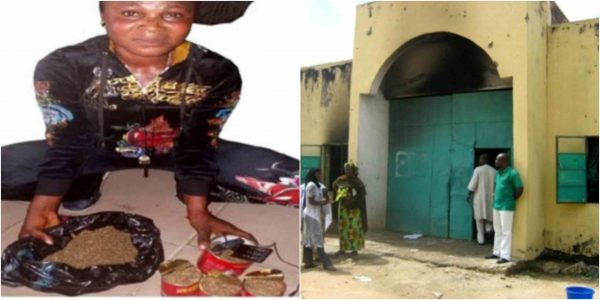 Woman caught trying to smuggle Indian hemp into Ikoyi Prisons lailasnews 3