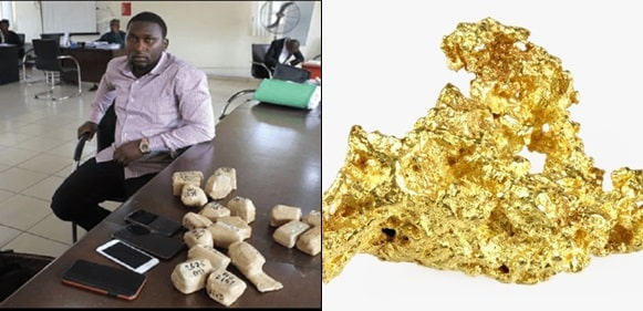 Man CaughtWith 19 Wraps Of Raw Gold In Lagos