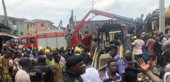 Lagos State government begins manual demolition of marked buildings