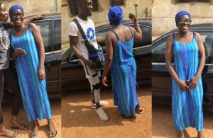 21-year-old Nigerian man surprises his mum with a car on her birthday (Photos)