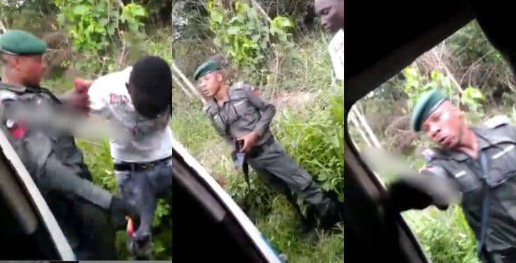 """Policeman destroys DELSU student's phone for being too """"expensive"""" (Video)"""