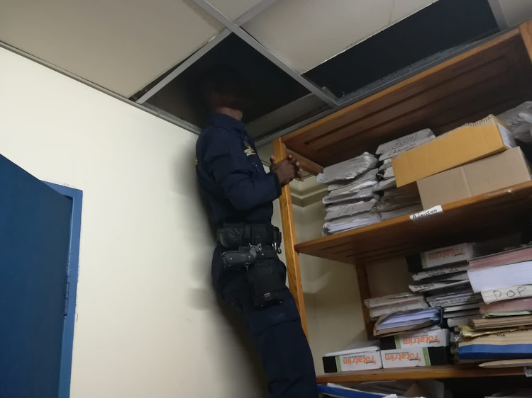 Police discovered the body of a man in the ceiling at a hospital in Durban on Friday, May 24 2019.