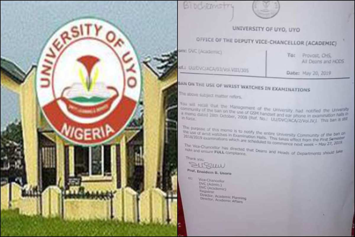 University Of Uyo bans use of wristwatches during exams photo - lailasnews