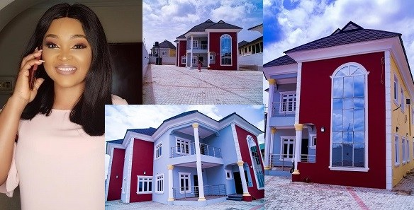 mercy aigbe rented and dint buy her new mansion - lailasnews