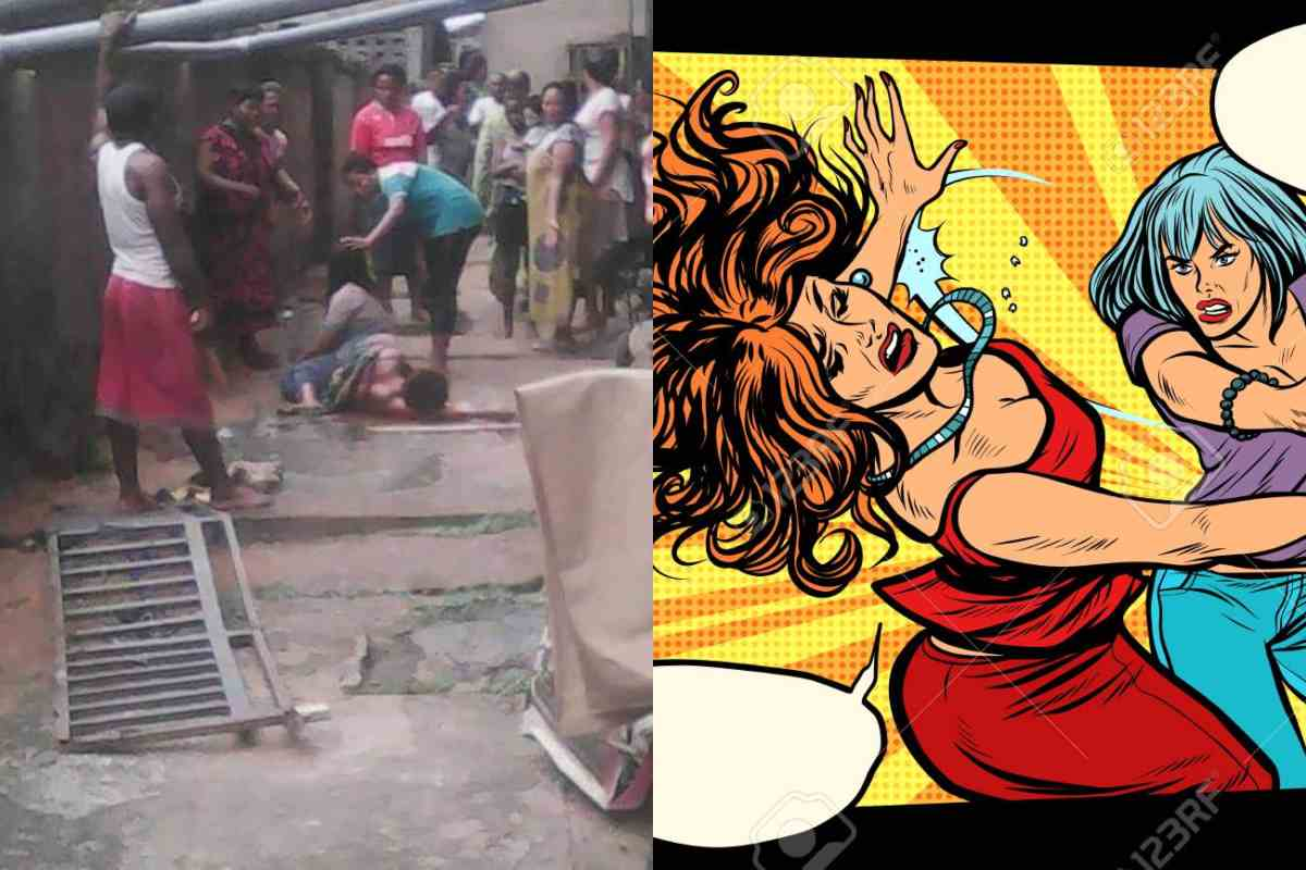 2 married women fighting, reportedly fall from 3-storey building in Onitsha - lailasnews