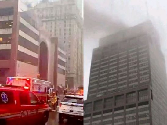 Helicopter crashes into skyscraper in New York killing one person