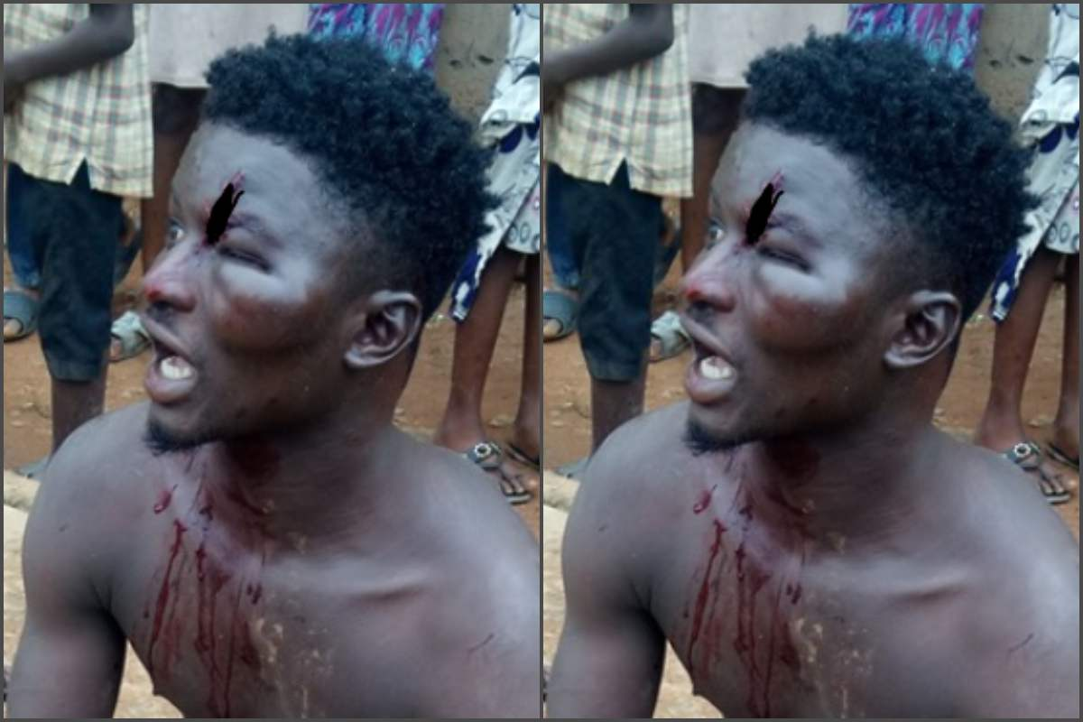 Residents beat up man found hiding in the ceiling of someone's apartment in Ikorodu - lailasnews