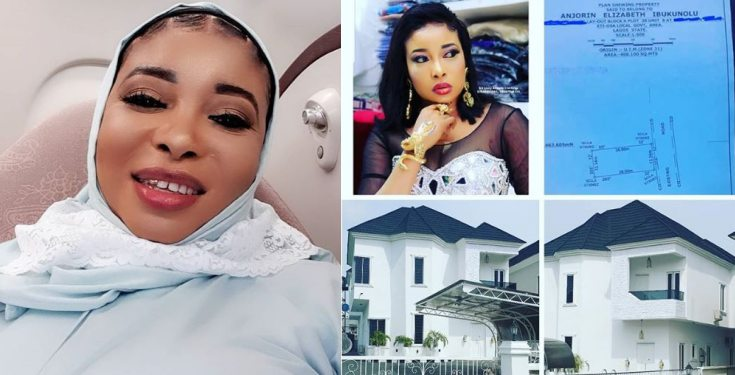 Actress Lizzy Anjorin pens an emotional note as she unveils her new house (photos)