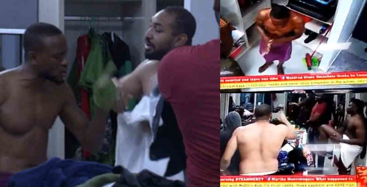 BBNaija 2019: Omashola engages in a heated argument with Jeff (video)
