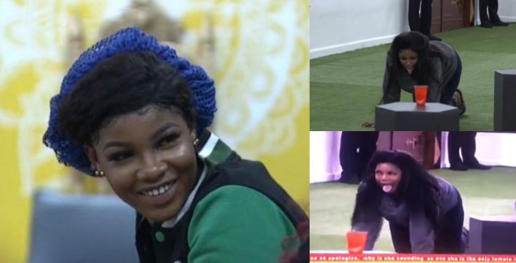 #BBNaija 2019: Watch the moment Tacha mimicked a goat (Video)