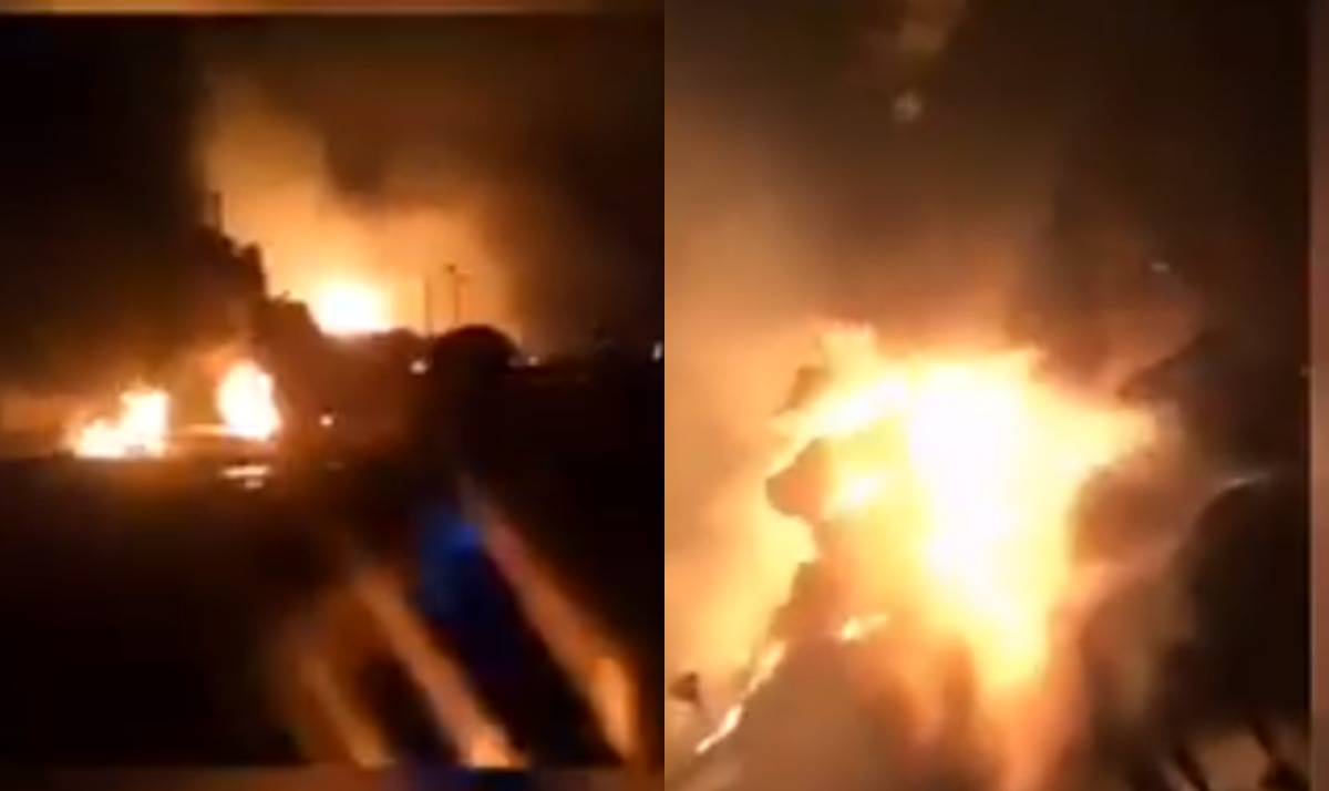 Fire outbreak in Ijegun community in Lagos (Video)