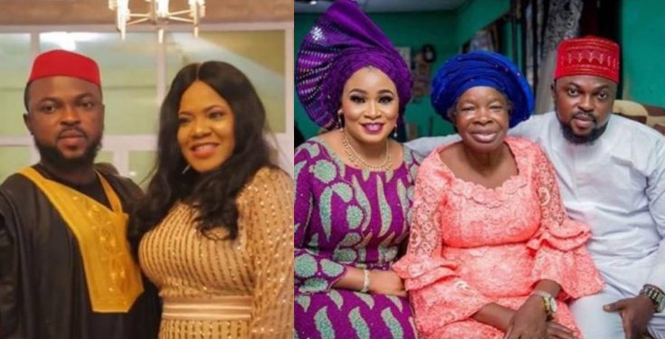 First photos from actress Toyin Abraham and Kolawole Ajeyemi's Introduction/Engagement