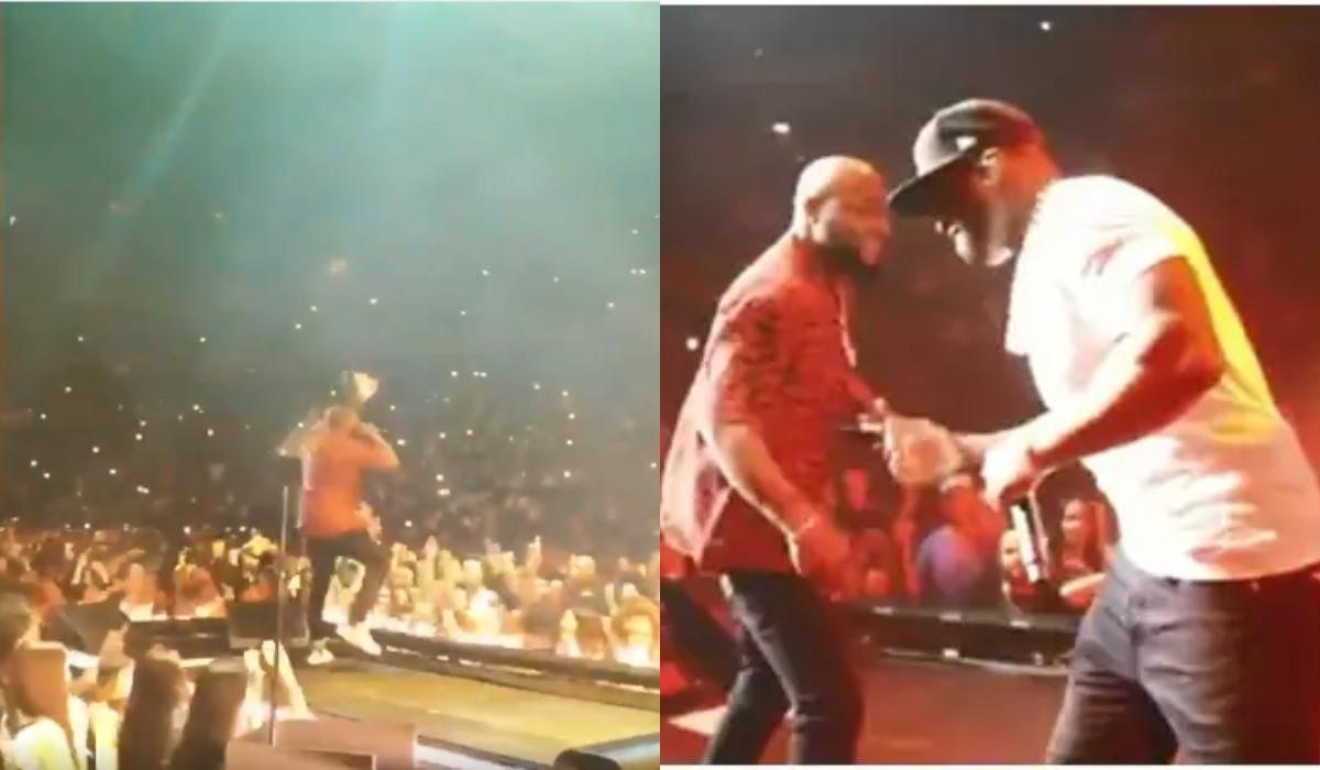 Davido performs after performance at Madison Square Garden with 50 Cent (Video)